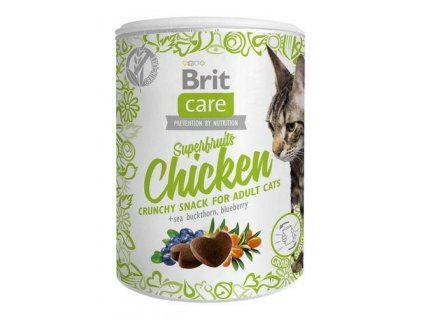 4617 brit care cat snack superfruits chicken 100g