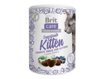 4614 brit care cat snack superfruits kitten 100g