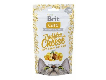 4608 brit care cat snack truffles cheese 50g