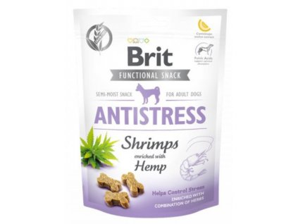 7611 brit care dog functional snack antistress shrimps 150g
