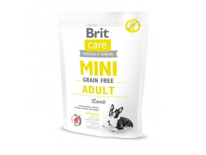 4686 brit care mini grain free adult lamb 400g
