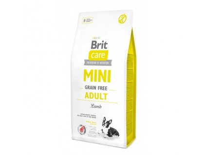 4692 brit care mini grain free adult lamb 7kg