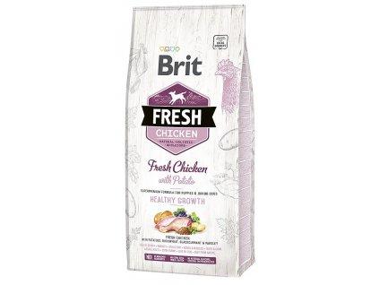 Brit Fresh Chicken & Potato Puppy Healthy Growth 12 kg