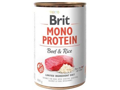 5436 brit mono protein beef brown rice 400g