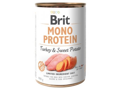 8091 brit mono protein turkey sweet potato 400g 3 1 zdarma