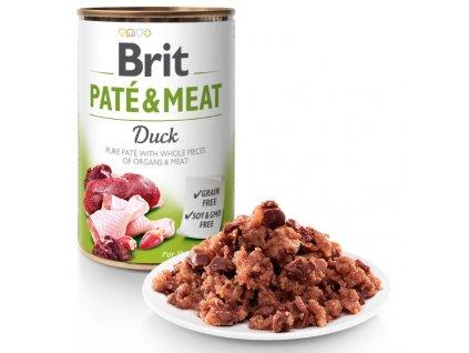 8052 brit pate meat duck 400g 5 1 zdarma