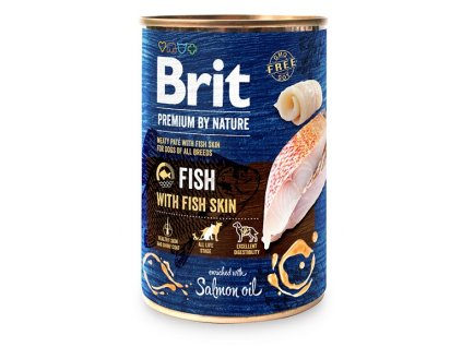 7635 brit premium by nature fish with fish skin 400g