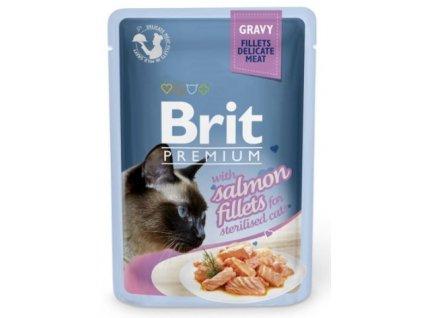 4467 brit premium cat delicate fillets in gravy salmon sterillised 85g