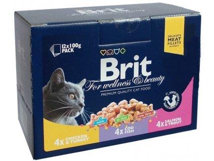 3651 brit premium cat pouches masovy a rybi mix 1200g kure kruta treska losos pstr