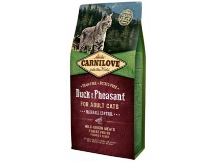 Carnilove Cat Duck & Pheasant for Adult Cats Hairball Control 6 kg