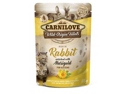 Carnilove Cat Pouch Rich in Rabbit Enriched with Marigold 85 g