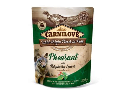 Carnilove Dog Pouch Paté Pheasant with Raspberry Leaves 300 g