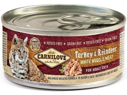 Carnilove WMM Turkey & Reindeer for Adult Cats 100 g