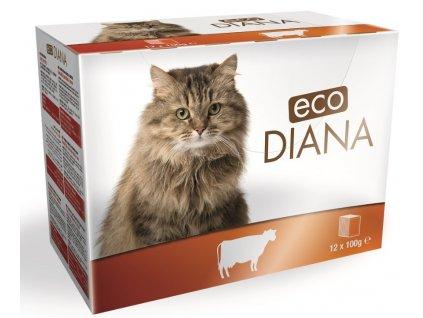 Diana eco kapsičky hovězí kousky v omáčce 12x100 g