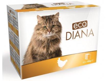 Diana eco kapsičky kuřecí kousky v omáčce 12x100 g