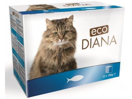 Diana eco kapsičky rybí kousky v omáčce 12x100 g