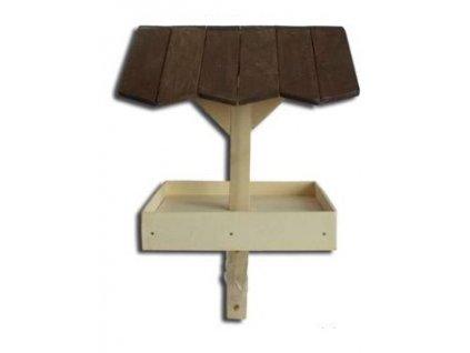 Dřevěné krmítko na zapíchnutí