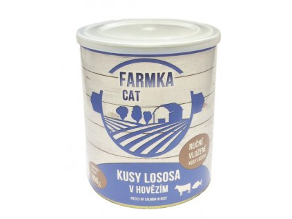 FARMKA CAT s lososem 800 g
