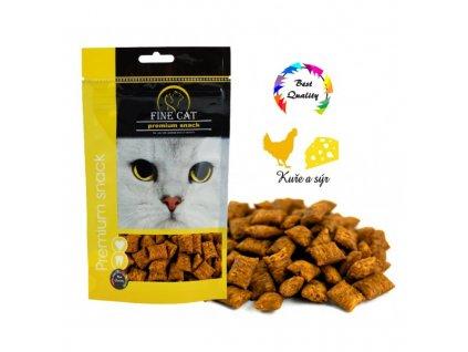 Fine Cat plněné polštářky Kuřecí se sýrem