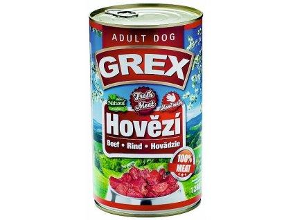 GREX hovězí konzerva pro psy 1280 g