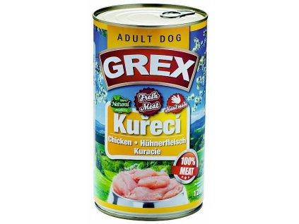 GREX kuřecí konzerva pro psy 1280 g