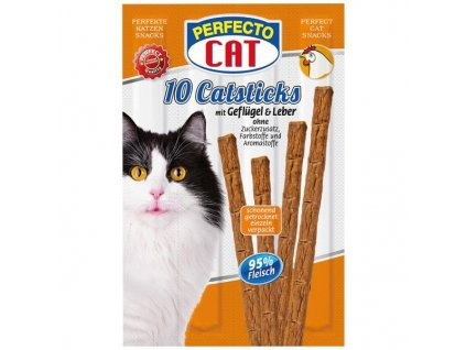 Perfecto Cat Masové tyčky játra & drůbeží 50 g 10 ks