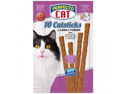 Perfecto Cat Masové tyčky jehně & krůta 50 g 10 ks