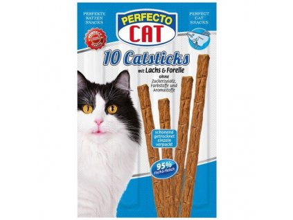 Perfecto Cat Masové tyčky losos & pstruh 50 g 10 ks