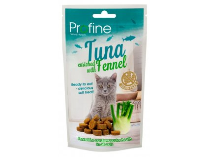 7029 profine cat semi moist snack tuna fennel 50g