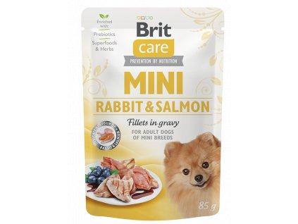 Brit Care Mini Rabbit & Salmon fillets in gravy 85 g