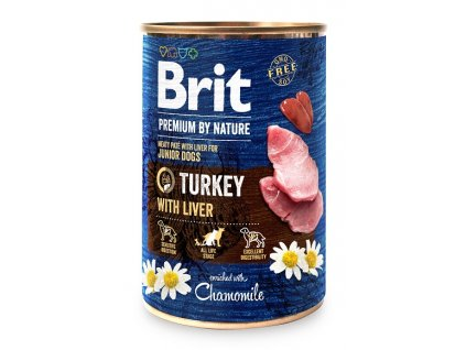 7629 brit premium by nature turkey with liver 400g
