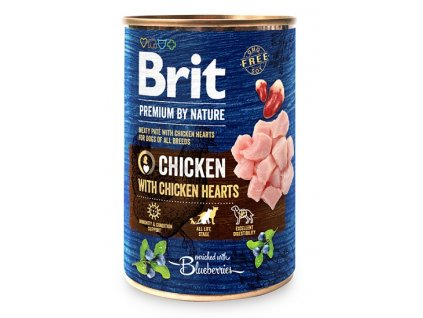 7632 brit premium by nature chicken with hearts 400g