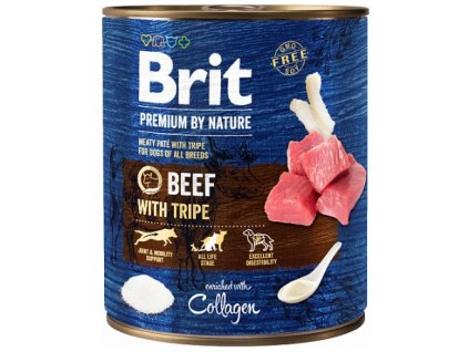7653 brit premium by nature beef with tripes 800g