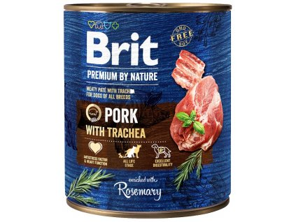 7659 brit premium by nature pork with trachea 800g
