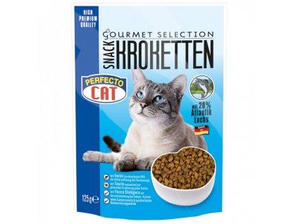 Perfecto Cat Kroketten snack 20% s Atlantským lososem 125 g