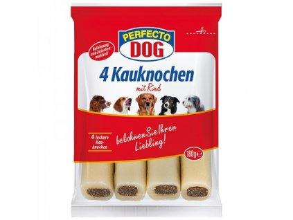 Perfecto Dog Plněná žvýkací tyčinka hovězí 4 ks 180 g