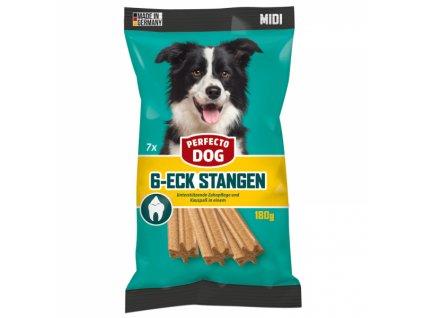 Perfecto Dog Dentální hvězda MIDI 7 ks 180 g