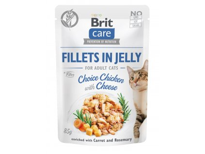 Brit Care Cat Fillets in Jelly Choice Chicken with Cheese 85 g