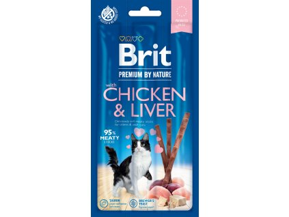 Brit Premium by Nature Cat Sticks with Chicken & Liver 3 ks
