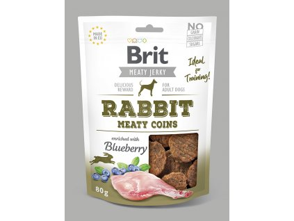 Brit Jerky Rabbit Meaty Coins