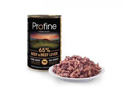 Profine Dog tins beef&beef liver with meat