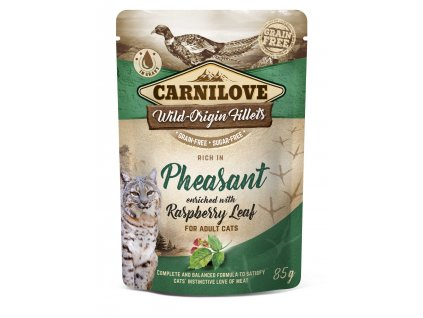 3D 18220 CL WET FOOD CAT 85g pouche PHEASANT