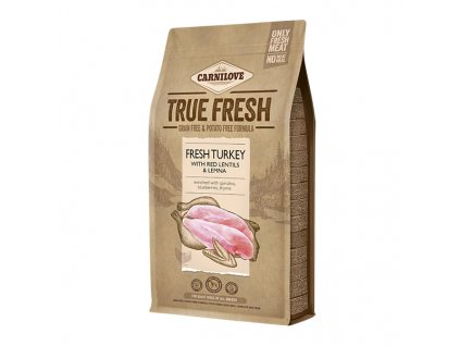 Carnilove TRUE FRESH TURKEY for Adult dogs 1,4 kg