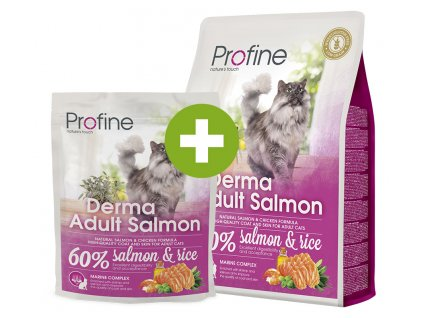 Profine Cat Derma Adult Salmon 2 kg + 300 g Zdarma