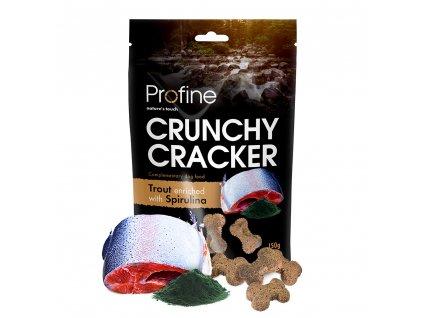 Profine Dog Crunchy Cracker Trout enriched with Spirulina