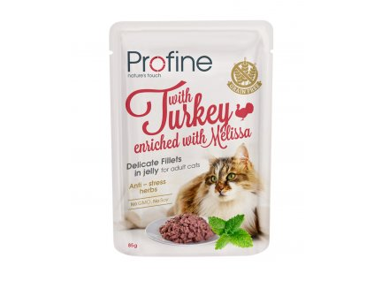 Profine Adult Cat pouch fillets in jelly with Turkey 85 g