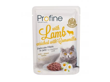 Profine Sterilized Cat pouch fillets in jelly with Lamb 85 g