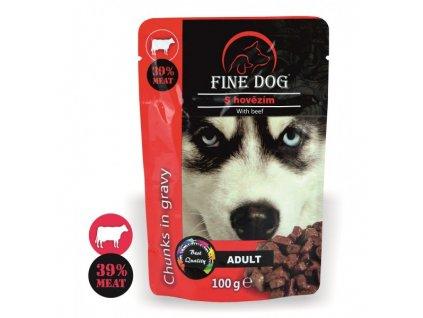 Fine Dog kapsička Adult hovězí v omáčce