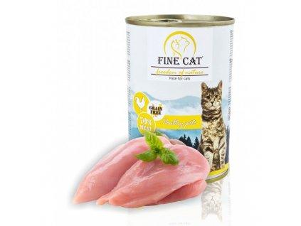 Fine Cat FoN konzerva pro kočky drůbeží 70% masa Paté