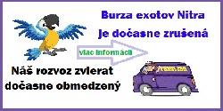 Dočasné zrušenie burzy exotov Nitra